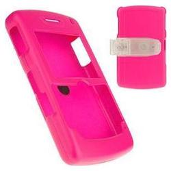 Wireless Emporium, Inc. Blackberry 8800 Snap-On Rubberized Protector Case w/Clip (Hot Pink)
