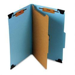 Smead Manufacturing Co. Hanging Classification Folder, 4 Section, Blue Pressboard, Legal (SMD65155)