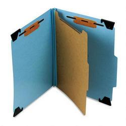 Smead Manufacturing Co. Hanging Classification Folder, 4 Section, Blue Pressboard, Letter (SMD65105)