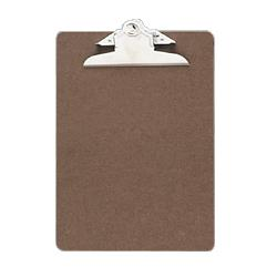 OFFICEMATE INTERNATIONAL CORP Hardboard Clipboard, 1 Paper Capacity, 6 x9 , Brown (OIC83103)