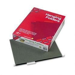 Smead Manufacturing Co. Hanging File Folders with Pocket, 2 Expansion, Letter, 1/5 Cut, Green, 25/Box (SMD64415)