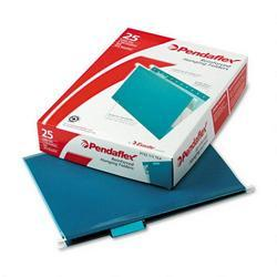 Esselte Pendaflex Corp. Hanging Folder, Reinforced with InfoPocket®, Teal, 1/5 Tab, Letter, 25/Box (ESS415215TEA)