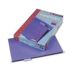 Smead Manufacturing Co. Hanging Folders, Recycled, Legal Size, Purple, 1/5 Cut Lavender Tabs, 25/Box (SMD64172)
