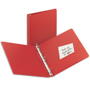 "1 1/2"" Economy Round-Ring Binder, Red"