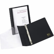 "1"" See-Thru Presentation Round-Ring Binder, Black"