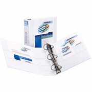 "3"" Durable D-Ring View Binder, White"