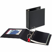 "3"" EasyOpen D-Ring Binder, Black"