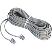 AT&T 25ft Telephone Line Cord, Gray