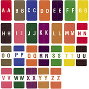 Ames Color-File Alpha Labels, Letter M, Salmon