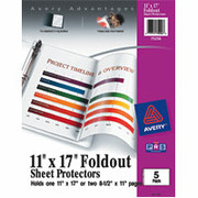 "Avery 11"" x 17"" Fold-Out Sheet Protectors"