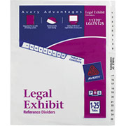 Avery Legal Exhibit Dividers, 1-25