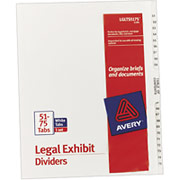Avery Legal Exhibit Dividers, 51-75