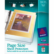 Avery Page-Size Sheet Protectors, Diamond Clear