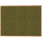 Balt 3x4 Green Splash Cork Board with Oak Trim