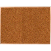 Balt 4x12 Red Splash Cork Board with Oak Trim