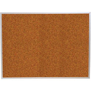 Balt 4x6 Red Splash Cork Board with Aluminum Trim