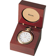 Bulova Ashton Solid Wood Clock