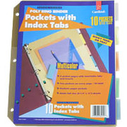 Cardinal Poly Pockets with Index Tabs, Assorted