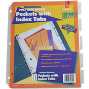 Cardinal Poly Pockets with Index Tabs, Clear