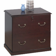 Cherry Wood Veneer Lateral File Cabinets, 2-Drawer