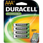 Duracell AAA Rechargeable Batteries, 4/Pack