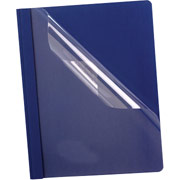 Esselte Oxford Deluxe Clear Front Report Covers, Blue