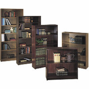 HON 1870 Series Wood Laminate Bookcases - 5 Shelf, Mahogany