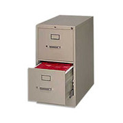 HON 210 Series 2-Drawer, Letter Size Vertical File Cabinet, Putty