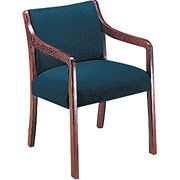 HON 2300 Series Guest Chair, Mahogany Finish, Blue
