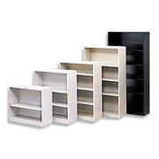 HON 4-Shelf Metal Bookcase, Gray