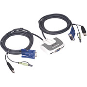Iogear MiniView Micro USB PLUS KVM Switch, 2 ports