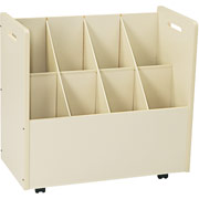 "Laminate Mobile Roll File, 8-7"" x 7"" Bins, White, 29 1/8""Hx  30 1/8""W x 15 3/4""D"