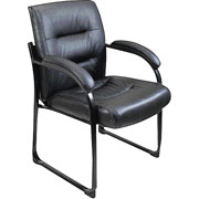 Chairs Lane Black Leather Guest Chair Lane 5528S