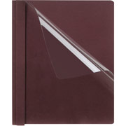 Oxford Clear-Front Report Cover, Burgundy