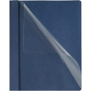 Oxford Clear-Front Report Cover, Dark Blue