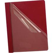 Oxford Clear-Front Report Cover, Red