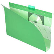 "Pendaflex Box-Bottom Colored Hanging Folders, Legal, Bright Green, 2"" Expansion, 25/Box"