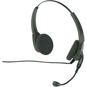 Plantronics H101N Encore Binaural Headset with Noise-Canceling Mic
