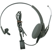 Plantronics H91 Encore Monaural Headset with Voice-Tube Mic