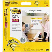 "Post-it Super Sticky Self-Stick Cubicle Pad, 16"" x 15"", White"