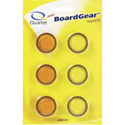 Quartet Translucent Magnets, 6/Pack