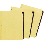 Red Leather Tab Dividers, 1-31