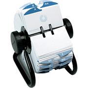 "Rolodex Metal Open Rotary Card File, Black, 2 1/4"" x 4"", 1000 Card Capacity"