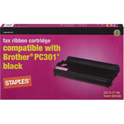 STAPLES Fax Cartridge Compatible with Brother PC-301
