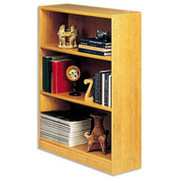 Situations 3-Shelf Heavy-Duty Wooden Bookcase, Snow Maple