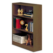 Situations 3-Shelf Heavy-Duty Wooden Bookcase, Vogue Cherry