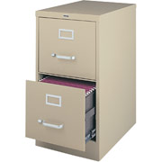 "Staples Vertical File, 25"" 2-Drawer, Legal Size,  Putty"