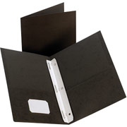 Twin-Pocket Fastener Portfolios, Black