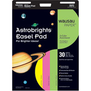 "Wausau Astrobrights, 25"" x 31"" Easel Pads"