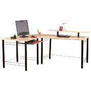 Desks Z Line Gemini L Desk Maple Black Staples 32944